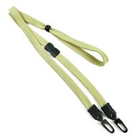 LNB32MBLGD Light Gold Light Gold Double Hook Lanyard