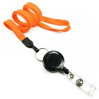 LNB32RNNOG Neon Orange Badge Reel Lanyards