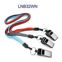 Neck Lanyard with key ring and whistle-LNB32WN