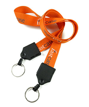 LNP06DAN custom double keyring lanyards