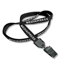 The single color Media and Press lanyards with id clips.