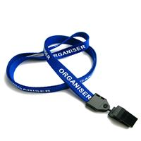 The single color Organiser lanyard with a swivel clip.