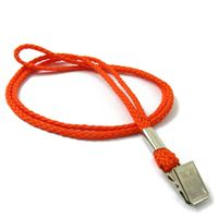 The single color clip cord lanyards with metal clips.