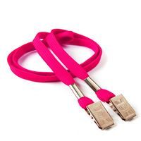 LRB324NHPK Hot Pink Lanyards