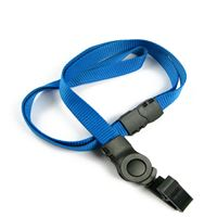 The single color safety badge clip lanyard with a badge clip.