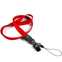 The single color cellphone clip lanyard with cell phone keeper and plastic clip.
