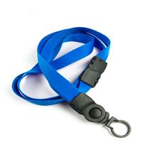 The single color safety keychain lanyard with a swivel key chain.