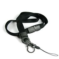 The single color safety mobile phone keychain lanyard with cell phone keeper and keychain.