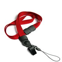 The single color safety cell phone clip lanyards with bulldog clips and mobile phone keepers.