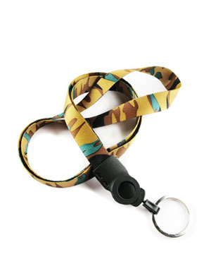 camouflage lanyards - camouflage pattern, key chain ring, pattern lanyards, LTD5001.