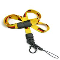 The single color Germany flag lanyards with cellphone keepers and key rings.