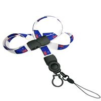 The single color Australia flag lanyard with cellphone keeper and key ring.