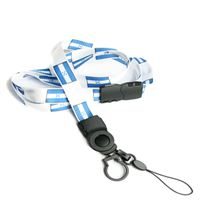 The single color Honduras flag lanyards with cellphone keepers and key rings.
