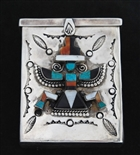ZUNI/NAVAJO INLAID KNIFEWING CIGARETTE BOX