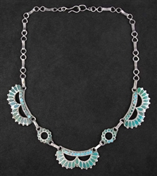 EARLY FRANK DISHTA SR. COLLAR NECKLACE