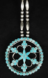 FRANK DISHTA SR. PIN/PENDANT WITH SILVER BEADS