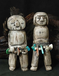 TEDDY WEAHKEE ANTLER MALE AND FEMALE FIGURES