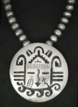 NORMAN HONIE SR. HOPI OVERLAY NECKLACE