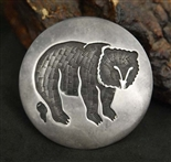 EARLY PRESTON MONONGYE BEAR PENDANT/PIN