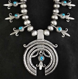 ESKIESOSE MARKED U S NAVAJO 2 NECKLACE