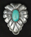 EARLY FRANK PATANIA SR. TURQUOISE LEAF PIN/PENDANT