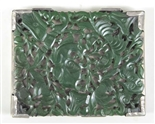 FRANK PATANIA SR. FLORAL CARVED JADE SILVER BOX