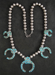 C. G. WALLACE ZUNI SNAKE EYE NAJA NECKLACE