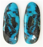 NATURAL BLUE DIAMOND TURQUOISE CABOCHONS 60.5 cts