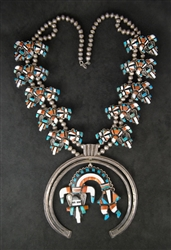 ARNOLD CELLICION ZUNI RAINBOWMAN NECKLACE
