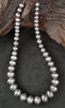 LARRY PINTO NAVAJO PEARL BEAD NECKLACE