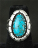 MARY MARIE LINCOLN LONE MT. TURQUOISE RING
