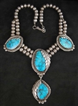 STUNNING MORENCI TURQUOISE NECKLACE