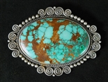 STUNNING PERRY SHORTY TURQUOISE PIN