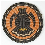 Hopi Wicker Plaque, Eagle Design c. 1950