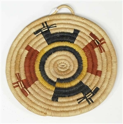 Hopi Coil Plaque, Deer Design c. 1950