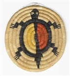 Hopi Coil Plaque, Turtle Design c. 1950
