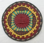 Hopi Wicker Plaque Cloud Design