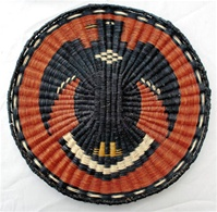 Hopi Wicker Plaque Eagle Design