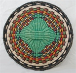 Hopi Wicker Plaque Geometric Design