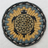 Hopi Wicker Plaque Turtle Design