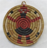 Hopi Coil Plaque, Mud Head Design c.1950