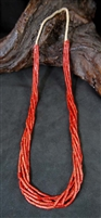 BEAUTIFUL RED MEDITERRANEAN CORAL NECKLACE