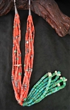 LOVELY MEDITERRANEAN CORAL #8 JACLA NECKLACE
