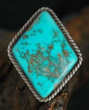 LARGE TURQUOISE RING BY DAVID SANDOVAL