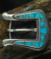 JACK WEEKOOTY ZUNI INLAID RANGER BUCKLE