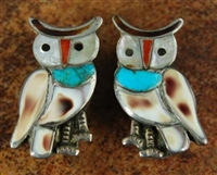 BLAKE LESANSEE ZUNI OWL CLIP-ON EARRINGS