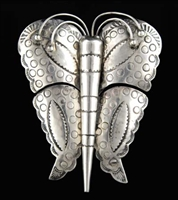 EARLY NAVAJO SILVER BUTTERFLY PIN