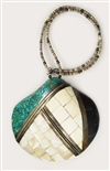 KEWA PUEBLO MOSAIC INLAID SHELL NECKLACE