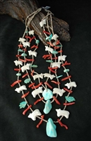 LEEKYA DEYUSE AND SAUL YUESLEW CARVED NECKLACE