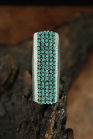 BEAUTIFUL HALOO SNAKE EYE ZUNI RING